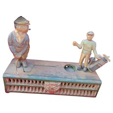 Old Mechanical Cast Iron Golf Bank belonging to PGA Golf Legend