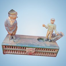 Old Mechanical Cast Iron Golf Bank belonging to PGA Golf Legend