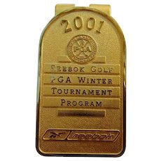 Al Kelley's 2001 Reebok Golf PGA Winter Tournament Money Clip