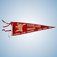 1948 Cleveland Indians Chief Wahoo World Series Pennant