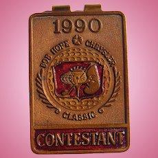 1990 Bob Hope PGA Golf  Chrysler Championship Custom Money Clip