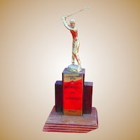 Babe Zaharias 1959 Golf Championship Trophy Dubsdread Golf Course