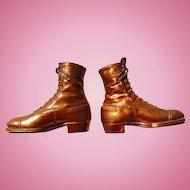 Unusual Victorian High Top Copper Dress Shoes