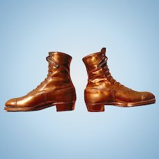 Unusual Victorian High Top Copper Dress Shoes
