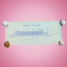 Original Blueprints of the Delta Queen Steamboat