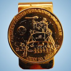 Handsome 1969 Apollo 11 Golf Tournament Money Clip