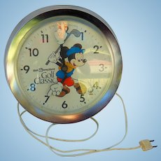 1983 Walt Disney World Golf Classic Payne Stewart Mickey Mouse Wall Clock