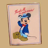 Mickey Mouse Original Art from the Walt Disney World Golf Classic 1970's