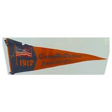 World War 1 Battle Banner Flag Camp McClellan in Anniston, Alabama 1917