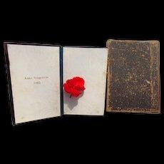 1863 Civil War Bible of  Anna Sengewein dried four leaf clovers & genealogical records