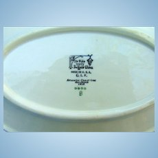 1939 Atlantic Coast Line Railroad  Buffalo China Serving Plate