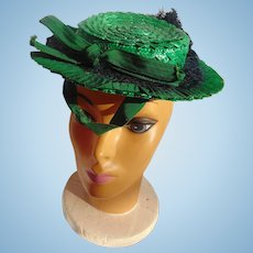 1930's Ladies Irish Green Hat
