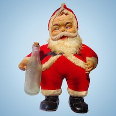 1950's The Rushton Company Coca Cola Santa Claus Vintage Coke