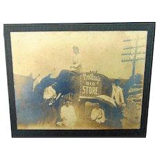 c.1905 Fairmont ,West Virginia Hartley's BIG Store Photo with Elephant
