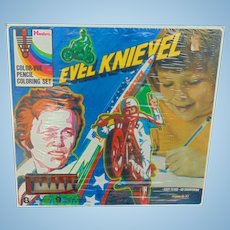 Hasbro Evil Knievel Color-Vue Pencil Coloring Set