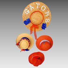 Vintage 1960's Florida Gators Football Ladies Colorful Hats