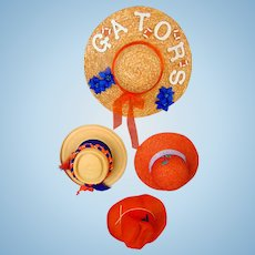 Vintage 1960's Florida Gators Football Ladies Colorful Hats