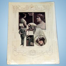 1914 Hollywood Silent Film Stars Department Store Clothing  Sign