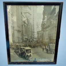 Bear's & Bulls and Snake Oil Salesmen  Artistic Photographic Masterpiece of Wall Street in 1908