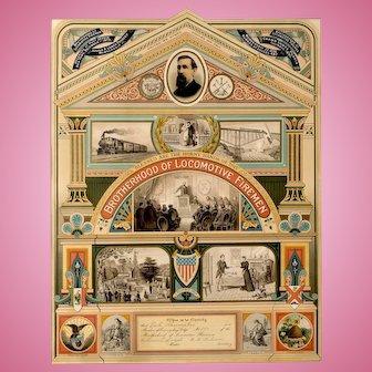 The Brotherhood of Locomotive Firemen: A Membership Certificate Altona,Illinois