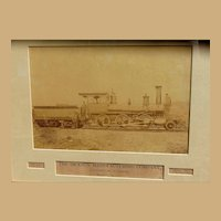 1870's Albumen Photo of Moses Taylor Locomotive Train Scranton,Pa. D. L. & W Railway
