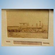 1870's Albumen Photo of Moses Taylor Locomotive Train Scranton,Pa. D. L. & W Railway