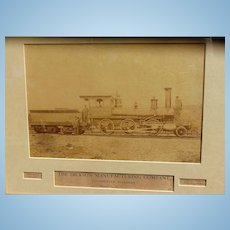 1870's Albumen Photo of Moses Taylor Locomotive Scranton,Pa. D. L. & W Railway