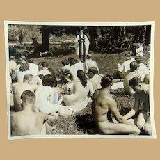 Sunny Trails  Nudist Colony Surrey,British Columbia 1969 during Spiritual Services