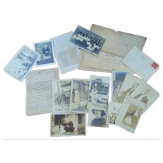 Revolutionary War Family archive of Charles & Adeline Stivers of Sidney,New York RPPC & Letters