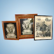 Grouping of original 1901 William McKinley Framed Memorials