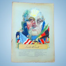 Fabulous 1936 Campaign Poster  of Franklin Delano Roosevelt by Cecil CC Beall Abstract