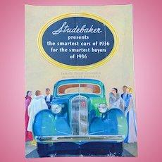 1936 Art Deco Studebaker President Dictator Brochure Poster