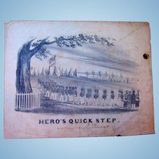 Sheet Music The Hero's Quick Step, Composed And Respectfully Dedicated to The New York Light Guards