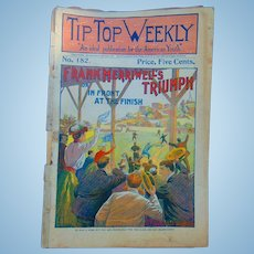 1899 Baseball Magazine Tip Top Weekly Frank Merriwell's Triumph or, In Front at the Finish