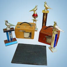 Archive of Professional Pigeon Racer Time Machines & Trophies