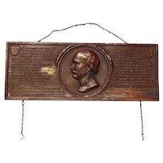 1907 Algernon Sydney Sullivan Award Plaque from the Citizens of New York