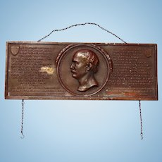 1907 Algernon Sydney Sullivan Award Plaque from the Citizens of New York