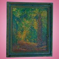 Oil on Board Nunzio Vayana (Italian, 1878-1960) St. Augustine,Florida Lovers Trail