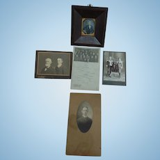 Early Daguerreotype in Unusual Iron Wood  Frame Knox Family Archive, Tennessee