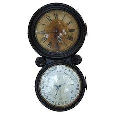 1876 E.Ingraham & Company Double Dial Calendar Clock