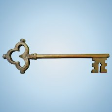 Old City Jail St. Augustine,Florida Heavy Brass Cell Key
