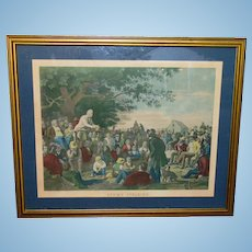George Caleb Bingham STUMP SPEAKING Political Scene Centennial  Framed Lithograph