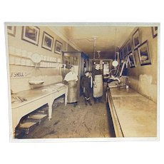 Albumen Photo Fresh Catch of Day in a Maine Ghost town of Perkins Township c.1907