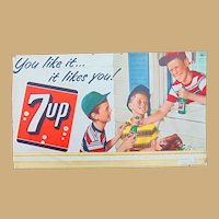 What a Bash ! 1953 Baseball 7-UP General Store Sign