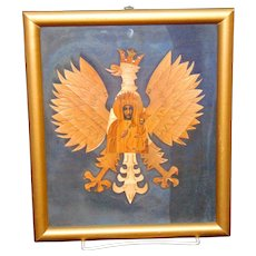 Incredible Folk Art Polish Icon pre-WW2  made of Straw
