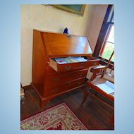 Late 18th Century Chippendale New England Slant Front Desk