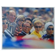 Frank Sinatra Mia Farrow & Leo Durocher at 1974 World Series Photograph