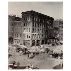 Riveting photograph of Pratt &  Light Streets  Baltimore,Maryland circa 1921.