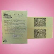 1944 Barnum & Baily Circus Contract with City of Bainbridge,Georgia Mike Pyne Agent