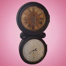 1876 Centennial E.Ingraham & Company Double Dial  Banjo Calendar Clock